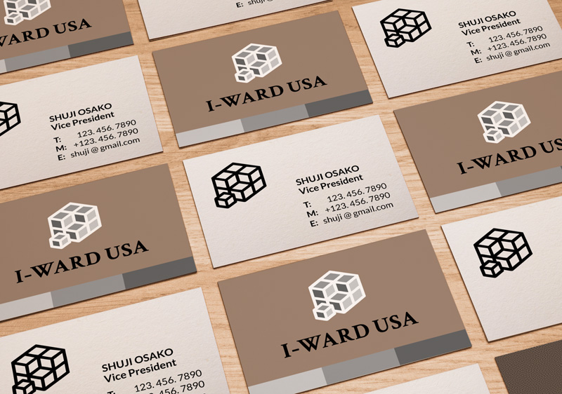 I-Ward Buisness Card Branding