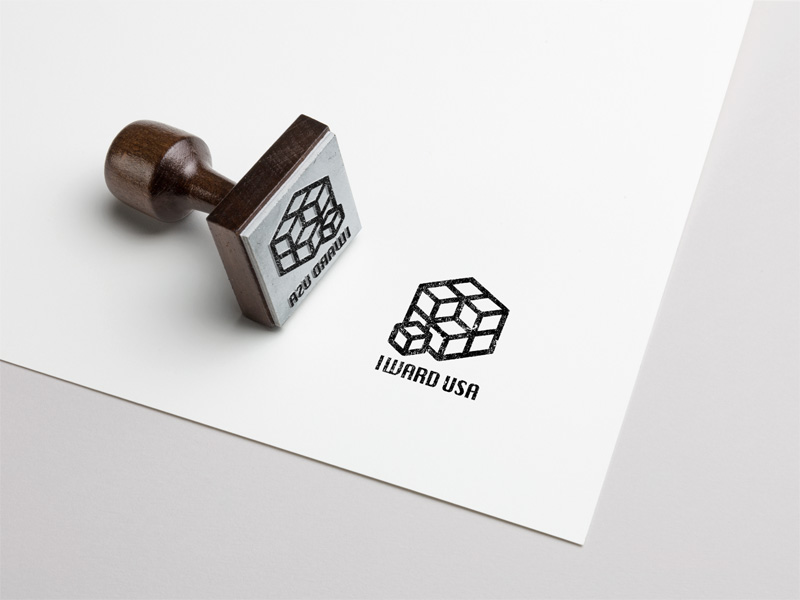 I-Ward Rubber Stamp Branding